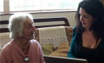 Lisa conducts a pre-interview with her client Doris Bowles