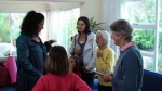 Doris Bowles (102) chats with Lisa and her family about her experience of creating a Life Story film