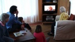 Doris Bowles (102) and family watch her Life Stories DVD for the first time