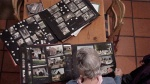 Doriries daughter Janet Hockly chooses family photos for inclusion in her moms Life Story interview